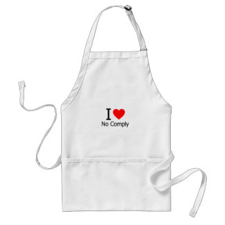 I Love No Comply Aprons