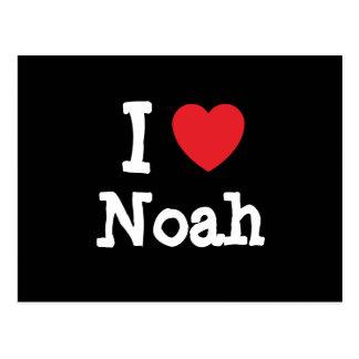 I love Noah heart custom personalized Post Cards
