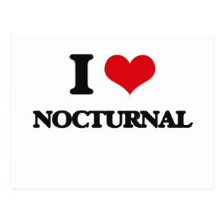 I Love Nocturnal Postcard