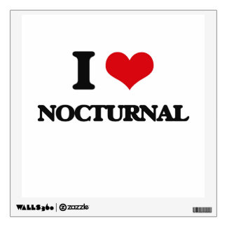 I Love Nocturnal Wall Sticker