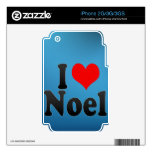 I love Noel Decals For iPhone 2G