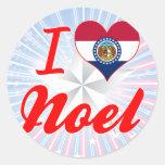 I Love Noel, Missouri Sticker