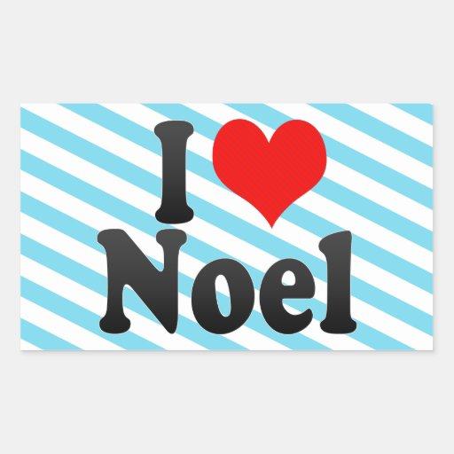 I love Noel Rectangular Stickers