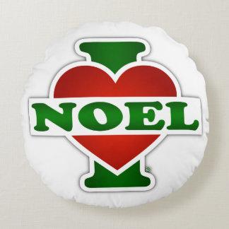 I Love Noel Round Pillow