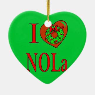 I Love NOLA Ceramic Ornament
