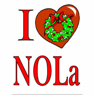 I Love NOLA Christmas Statuette