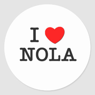 I Love Nola Classic Round Sticker