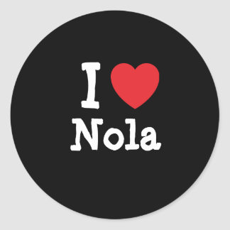I love Nola heart T-Shirt Classic Round Sticker