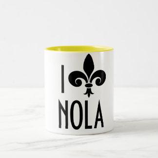 I Love NOLA Two-Tone Coffee Mug