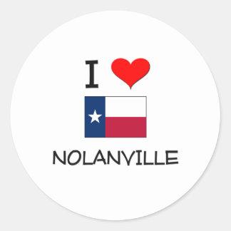 I Love Nolanville Texas Classic Round Sticker