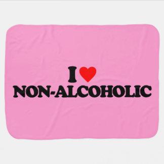 I LOVE NON-ALCOHOLIC RECEIVING BLANKET