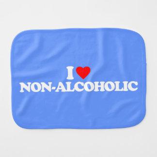 I LOVE NON-ALCOHOLIC BABY BURP CLOTH