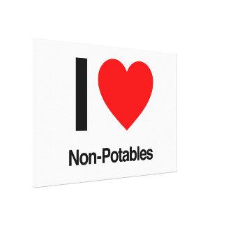 i love non-potables gallery wrap canvas