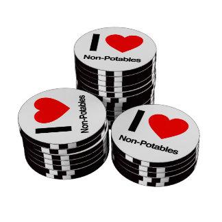 i love non-potables poker chip set