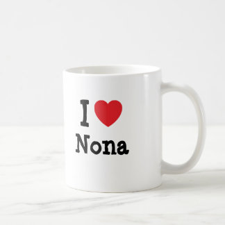 I love Nona heart T-Shirt Coffee Mugs