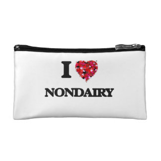 I Love Nondairy Cosmetic Bags