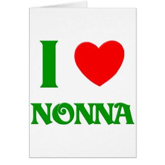 I Love Nonna Greeting Card