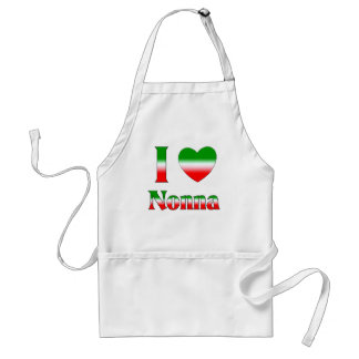 I Love Nonna (Italian Grandmother) Adult Apron