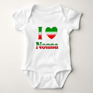 I Love Nonna (Italian Grandmother) Baby Bodysuit