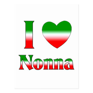 I Love Nonna (Italian Grandmother) Postcard