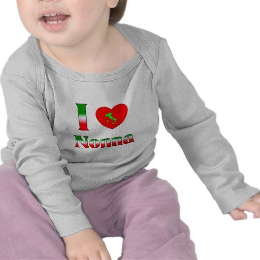 I Love Nonna (Italian Grandmother) T Shirts