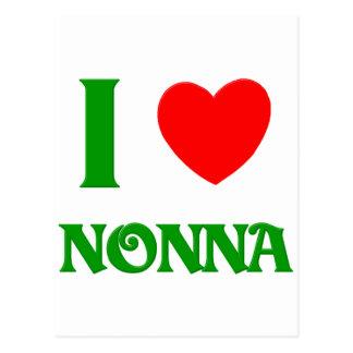 I Love Nonna Postcard