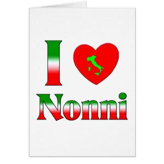 I  Love Nonni Greeting Card
