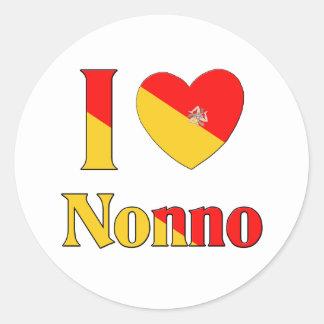 I Love Nonno Classic Round Sticker