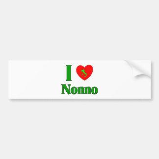 I Love Nonno (Italian Grandfather) Bumper Sticker