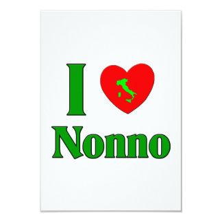 I Love Nonno (Italian Grandfather) Personalized Invites