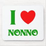 I Love Nonno (Italian Grandfather) Mouse Pad