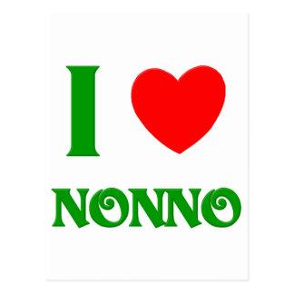 I Love Nonno (Italian Grandfather) Postcard
