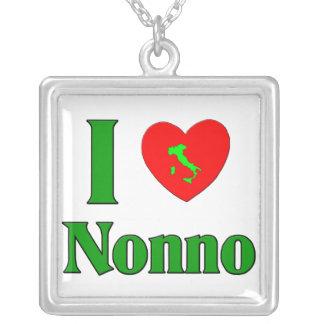I Love Nonno (Italian Grandfather) Silver Plated Necklace