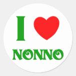 I Love Nonno (Italian Grandfather) Classic Round Sticker