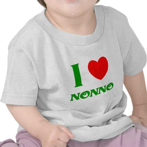 I Love Nonno (Italian Grandfather) Tees
