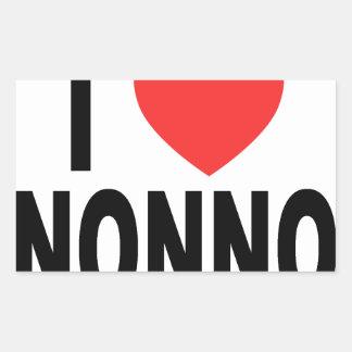 I Love nonno Shirts V.png Rectangular Sticker
