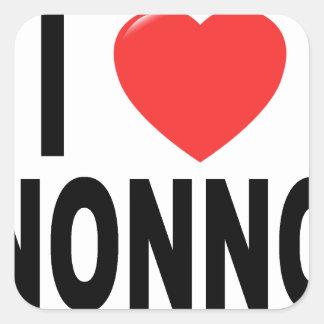 I Love nonno Shirts V.png Square Sticker