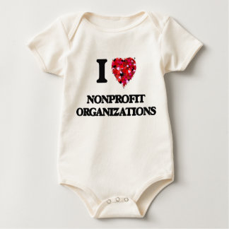 I Love Nonprofit Organizations Baby Bodysuit