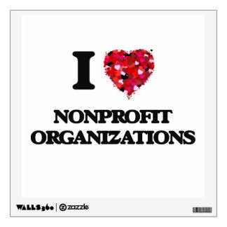 I Love Nonprofit Organizations Room Decal