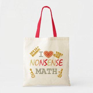 I Love Nonsense Math Tote Bags