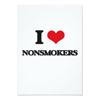 I Love Nonsmokers Card