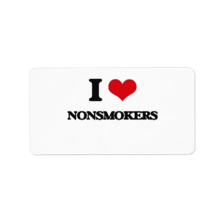 I Love Nonsmokers Personalized Address Label