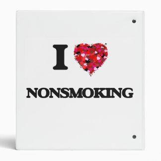 I Love Nonsmoking 3 Ring Binders