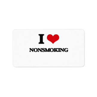 I Love Nonsmoking Personalized Address Labels