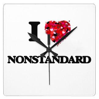 I Love Nonstandard Square Wall Clock