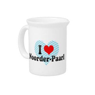 I Love Noorder-Paarl, South Africa Pitcher