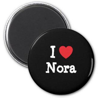 I love Nora heart T-Shirt 2 Inch Round Magnet
