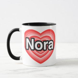 I love Nora. I love you Nora. Heart Mug