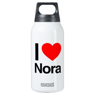 i love nora 10 oz insulated SIGG thermos water bottle