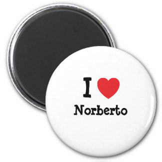 I love Norberto heart custom personalized Magnets